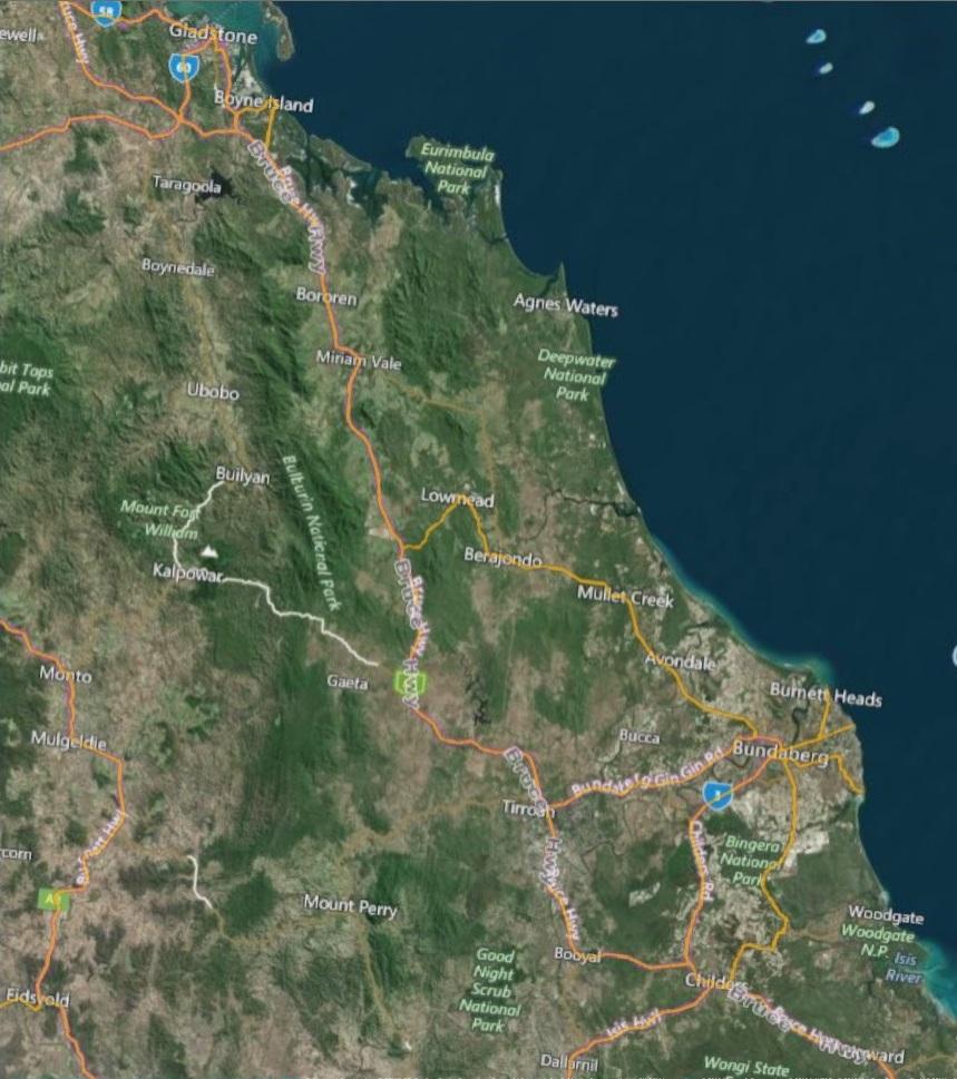 National Map Bundaberg region